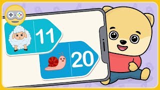Математика для детей - Веселые уроки с Бими Бу. Учим числа от 11 до 20 * мультик игра для маленьких