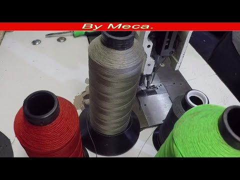 Upholstery Tips for Beginner #33. Different thickness thread
