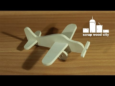 DIY wooden toy airplane, for Makers Care