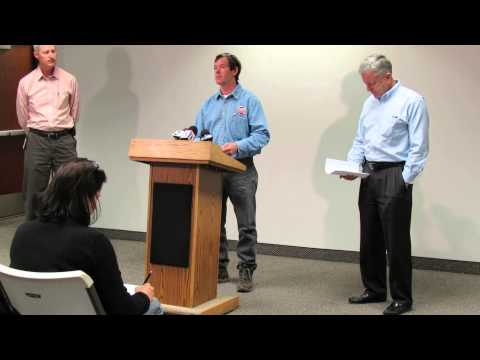 Chevron officials discuss clean up efforts of a diesel fuel spill at Willard Bay State Park