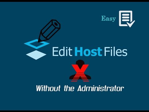 HOW TO EDIT HOST FILES BYPASSING ADMIN(With Commentaries)