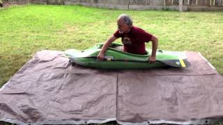 Dry land kayak roll practice technique.