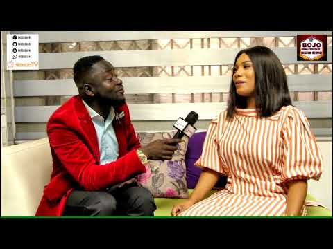The beautiful actress ZYNNELL ZUH chats with NKOSUOHENE