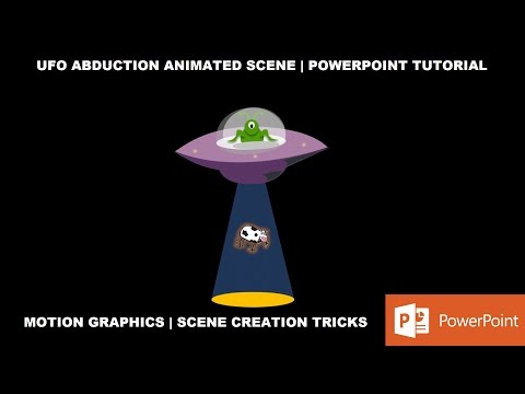 UFO and Alien A Short Animated Movie in PowerPoint 2016 Tutorial