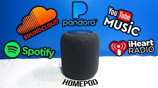 Apple HomePod: How To Play Spotify, Pandora, SoundCloud, iHeartRadio & YouTube!