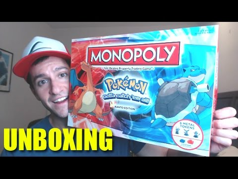 POKEMON MONOPOLY KANTO EDITION UNBOXING!