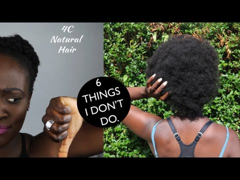 6 Things I DON'T do | GROWING NATURAL HAIR 4C TYPE // MYTH-BUSTING🌟