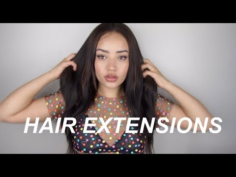 How to put on clip in hair extensions