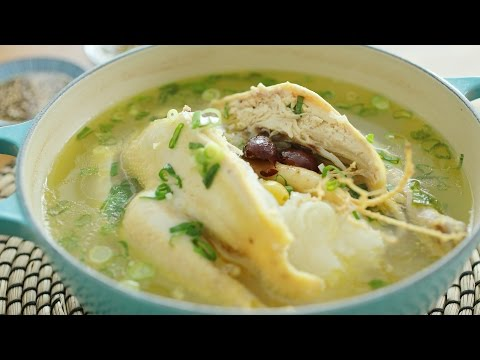 Korean Ginseng Chicken Soup - 韩式人参鸡汤