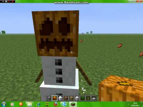how to make a iron golem and snow golem