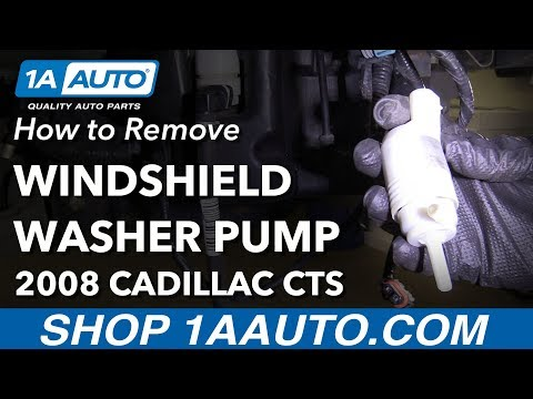 How to Remove Replace Windshield Washer Fluid Pump 2008 Cadillac CTS