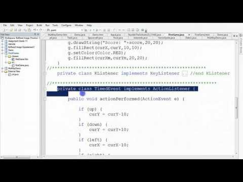 Java Applet Example Video 10/10 - JCreator IDE