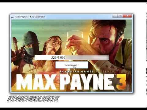 Max Payne 3 -- KeyGen