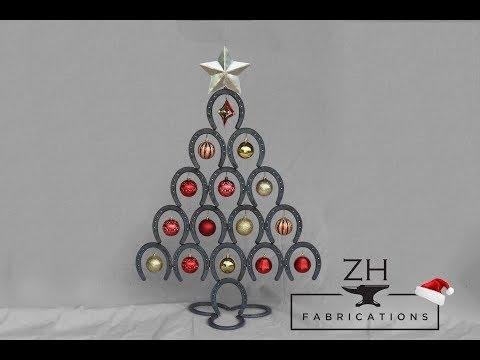 Welded Horseshoe Christmas Tree | Happy Holidays!