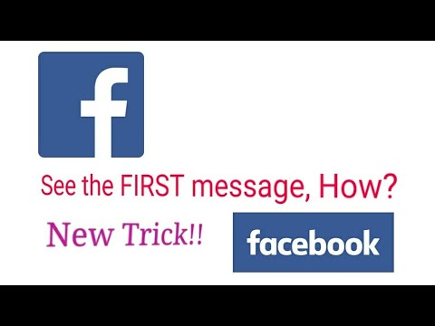 How to see First messages on facebook [2017]without Scrolling or Saving (new and updated way)