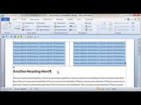 The Office Expert - Inserting Columns in Word