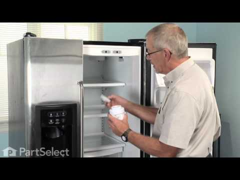 Refrigerator Maintenance - Changing Ice & Water Filter (GE Part# MWF)