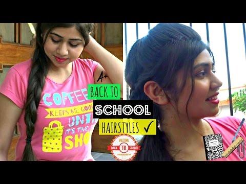 Back to SCHOOL: Hairstyles | DIY Fake braid |  braided Topsy turvy pony | Shweta Verma