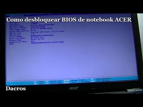 QUITAR PASSWORD / Como desbloquear BIOS de notebook ACER