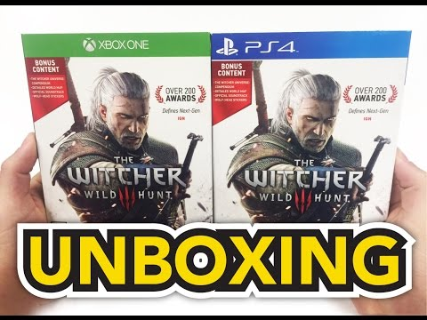 The Witcher 3 Wild Hunt (Xbox One / PS4) Unboxing !!