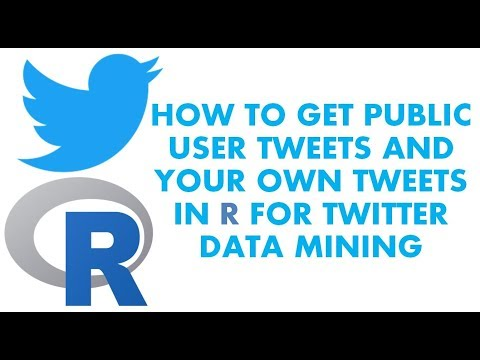 Text Analytics with R | How to get tweets from a public user account | Twitter Data Mining