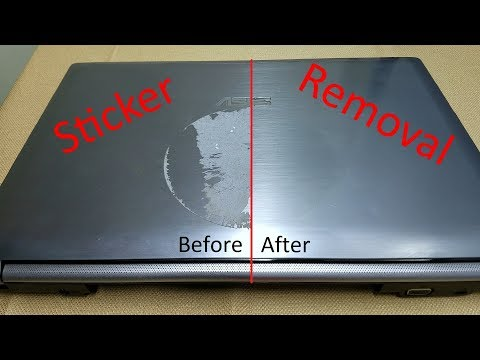 How To: Sticker Removal from Laptop