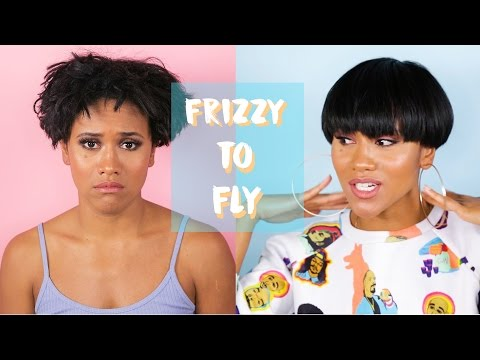 My Short Hair Routine | From Frizzy to Straight
