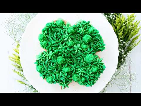 Four Leaf Clover Cookie Cake