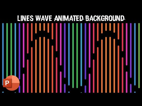 Lines Wave Pattern | Motion Backgrounds in PowerPoint 2016 Tutorial | The Teacher