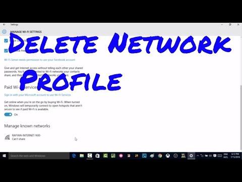 How to Delete wireless network profile in windows 10 in 2 options #computerrepair #computerrepair