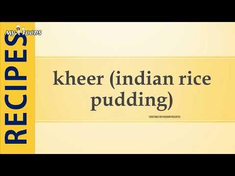kheer indian rice pudding