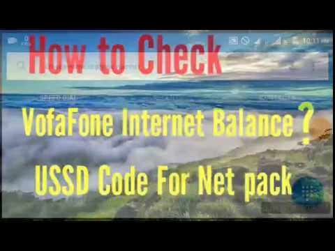 How To Check Vodafone Internet Balance? (USSD Code For Net Pack)