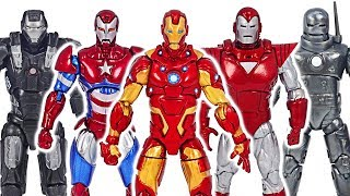 Avengers Iron Man suit armor army! Defeat the mighty Thanos! | DuDuPopTOY