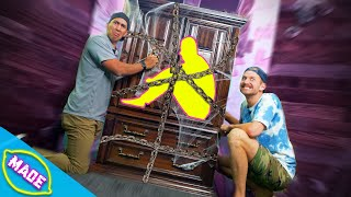 Break Your Friend Out Of The DIY Puzzle Cabinet!!! *Ft. Bryan from Team Edge*