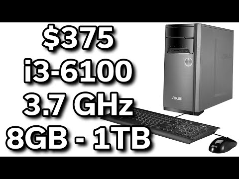 Best $375 Desktop Computer - i3-6100 @ 3.7GHz - 8GB - 1TB - ASUS M32CD
