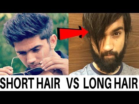 SHORT HAIR STYLE vs LONG HAIR STYLE FOR MEN