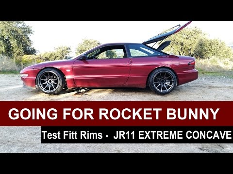 TEST FITTING THE WHEELS - JAPAN JR11 EXTREME CONCAVE SERIES Rocket Bunny Build #Ep 1