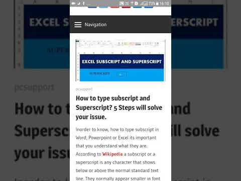 How to type subscript and Superscript in Word, Powerpoint, Excel and even Google Docs