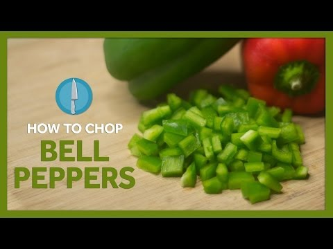 How To Chop Bell Pepper