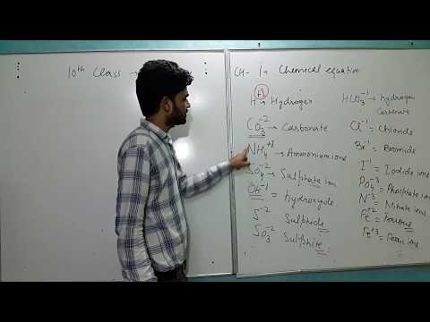 10 class how to write chemical equation (chemistry)