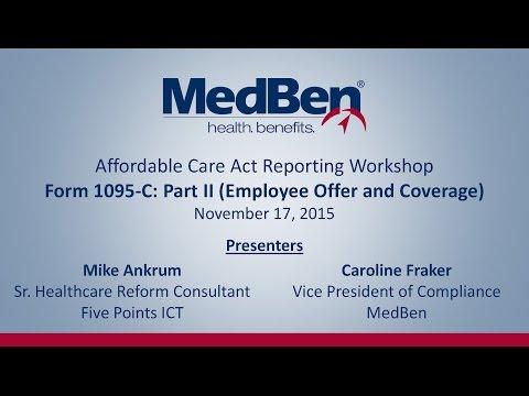 ACA Reporting Workshop – IRS Form 1095-C Part II