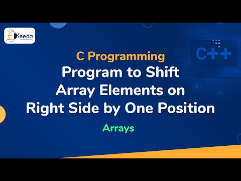 Program to shift array elements on right side by one position in C language using Array