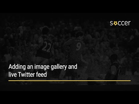 WP Soccer Tutorial: Adding an image gallery and live Twitter feed