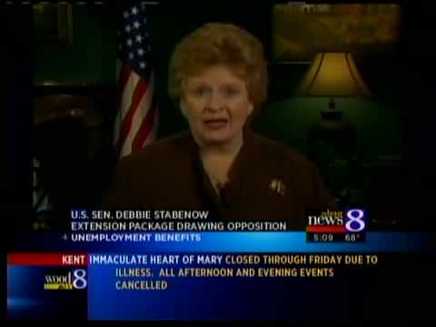 Stabenow on unemployment, health care