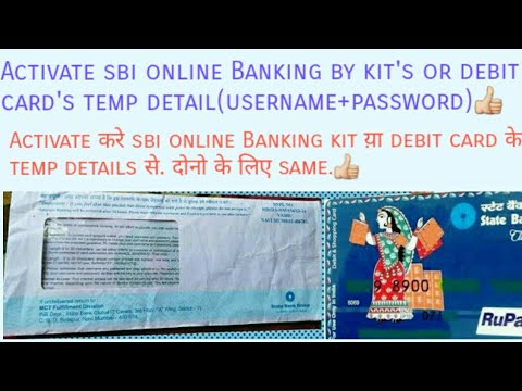 Activate SBI online banking by debit's & kit's temporary username & password. Common video for both.