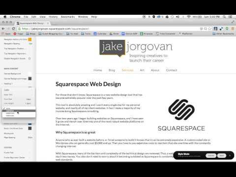 How to change and edit fonts in Squarespace