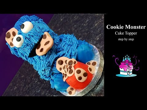 Cookie Monster Cake Topper Tutorial