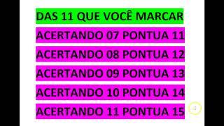Lotofacil,  21 Dezenas