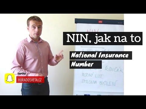 Jak si zaridit NIN National Insurance Number v Anglii