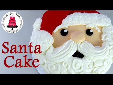 Buttercream Santa Cake - How To With The Icing Artist